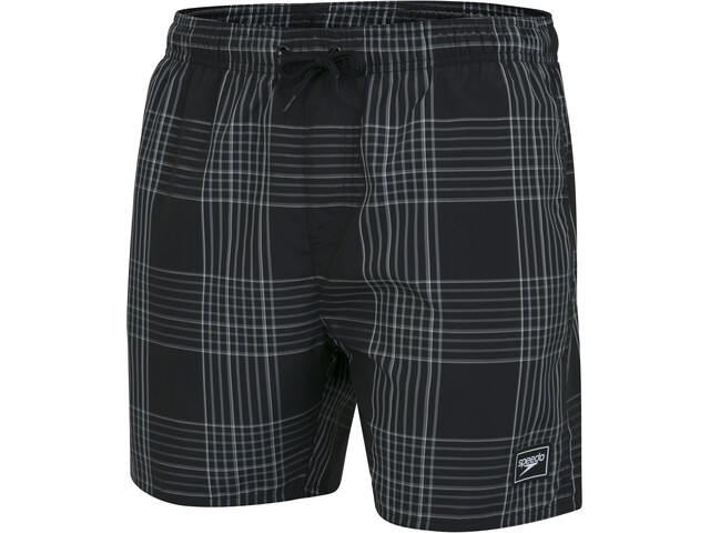 "speedo Check Leisure 16"" Wassershorts Herren black/light grey/white"